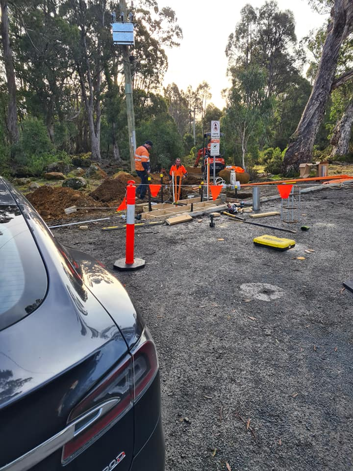 Derwent Bridge fast charger under construction - credit: I Want Energy